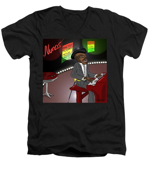 Pinetop Perkins Men's V-Neck T-Shirt