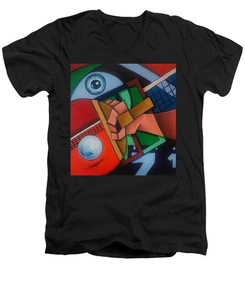 Ping Pong Men's V-Neck T-Shirt
