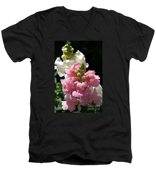 Men's V-Neck T-Shirt featuring the photograph Sweet Peas by Eunice Miller