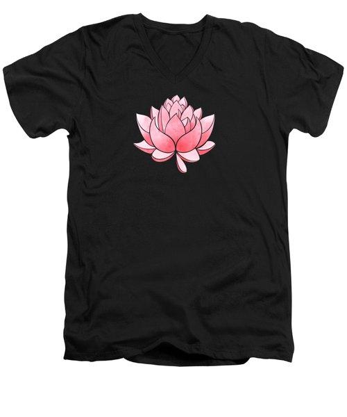 Pink Blossom Men's V-Neck T-Shirt