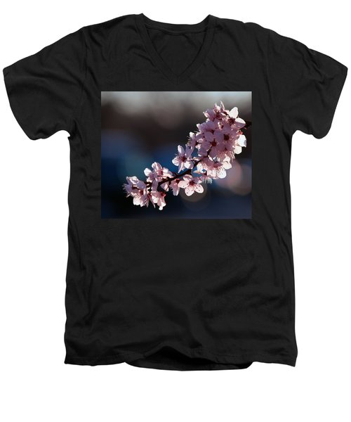 Pink Blossoms Men's V-Neck T-Shirt
