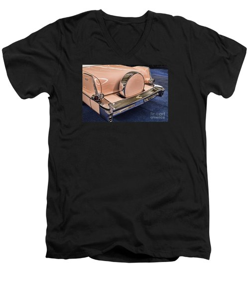 Pink Caddy Men's V-Neck T-Shirt by Steven Parker
