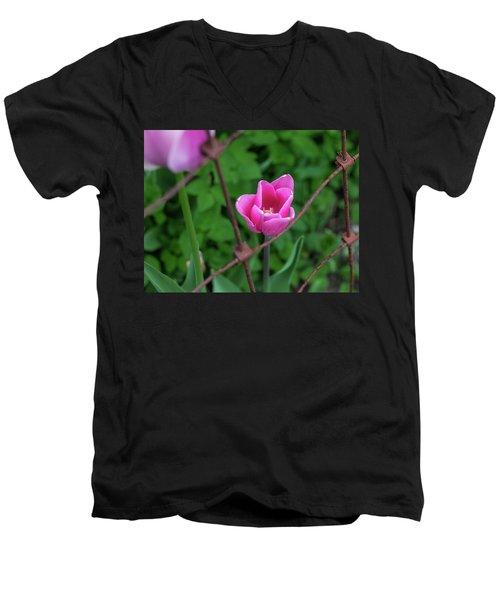 Pink In Stratford Men's V-Neck T-Shirt