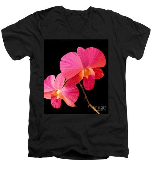 Pink Lux Men's V-Neck T-Shirt