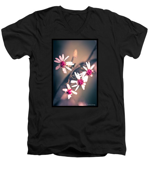 Men's V-Neck T-Shirt featuring the photograph Pink by Michaela Preston