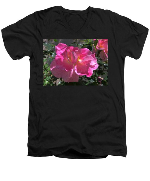 Men's V-Neck T-Shirt featuring the photograph Pink Passion by Daniel Hebard