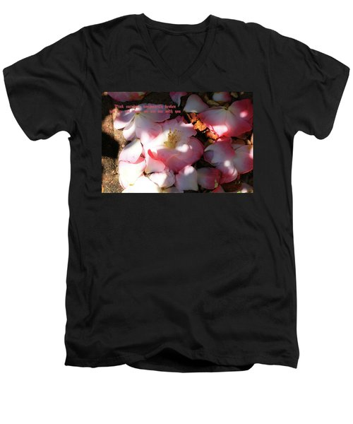 Men's V-Neck T-Shirt featuring the photograph Pink Survivor by Dennis Baswell