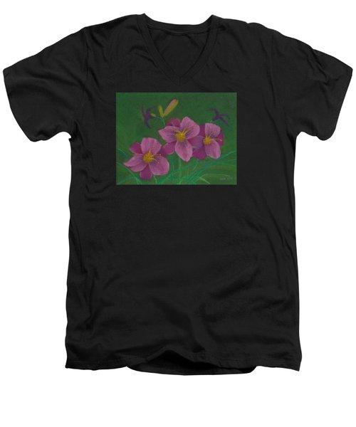 Pink Whispers Men's V-Neck T-Shirt