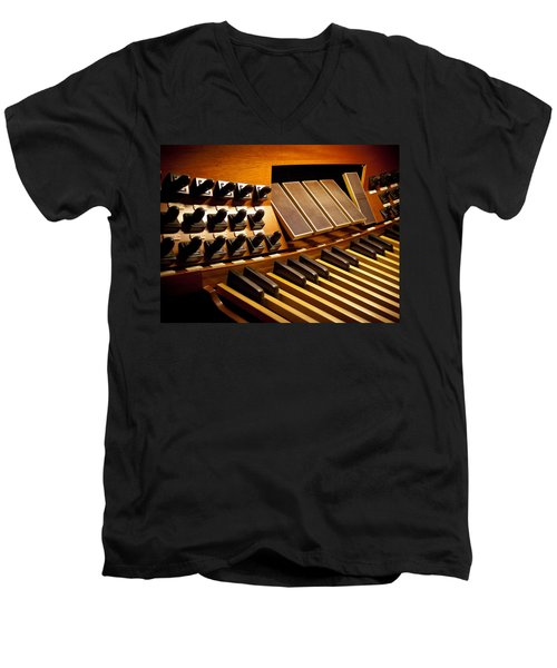 Pipe Organ Pedals Men's V-Neck T-Shirt