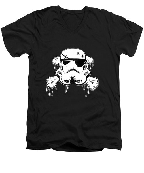Pirate Trooper Men's V-Neck T-Shirt by Nicklas Gustafsson