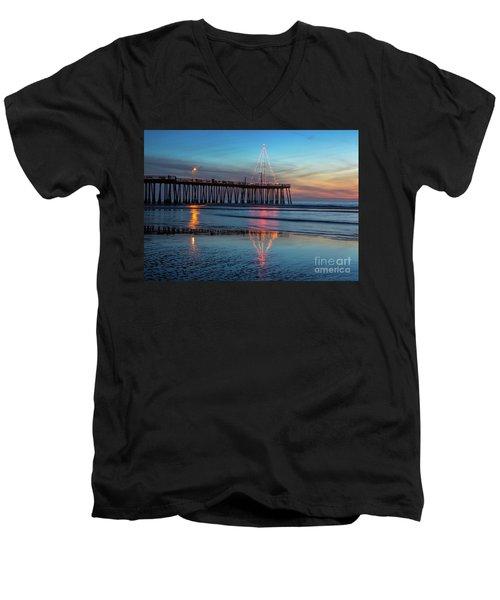 Pismo Pier Lights Men's V-Neck T-Shirt