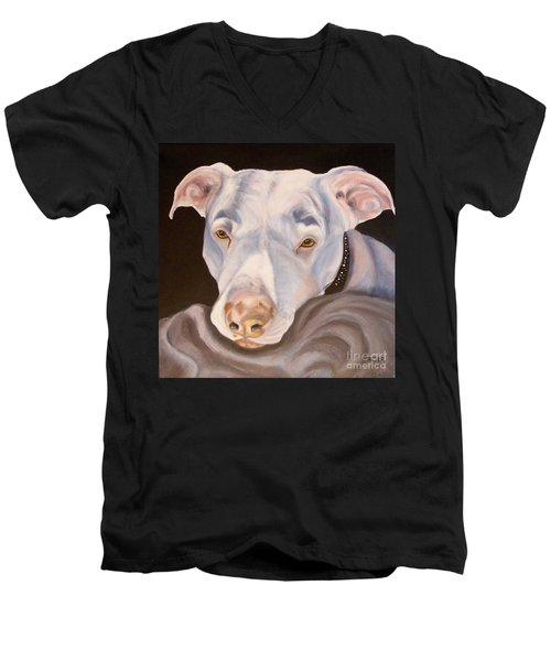 Pit Bull Lover Men's V-Neck T-Shirt
