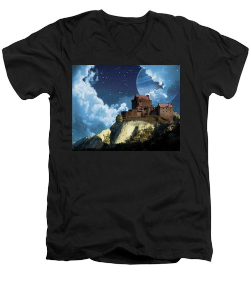 Planet Castle Men's V-Neck T-Shirt