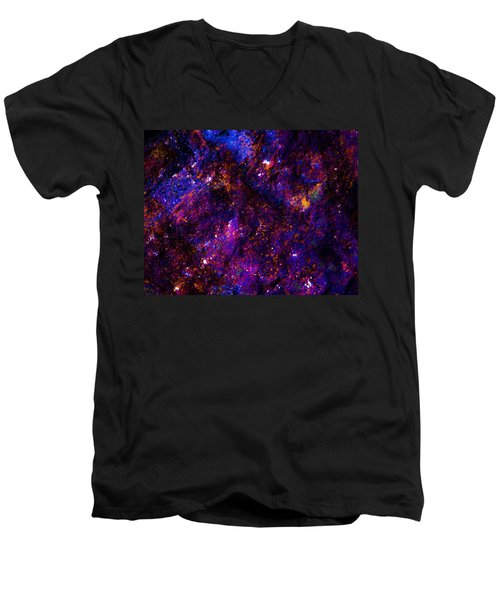 Planetary Sky Men's V-Neck T-Shirt by Bruce Pritchett
