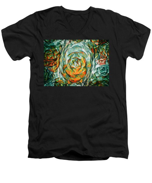 Men's V-Neck T-Shirt featuring the photograph Plant Abstract by Wayne Sherriff