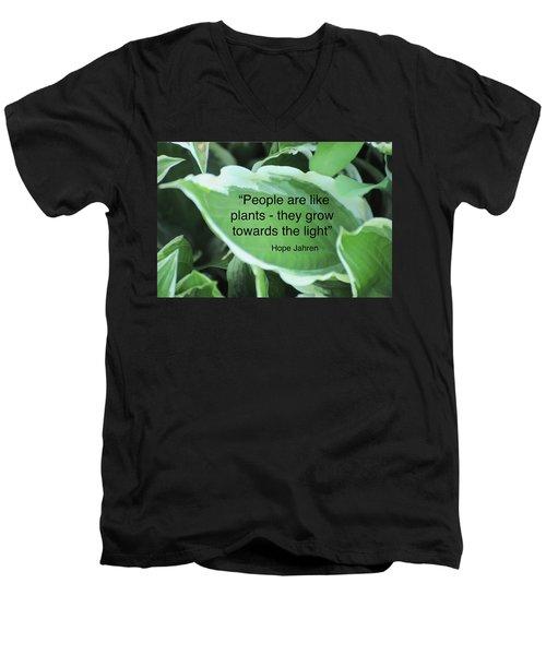 Plants Men's V-Neck T-Shirt by Lisa DiFruscio