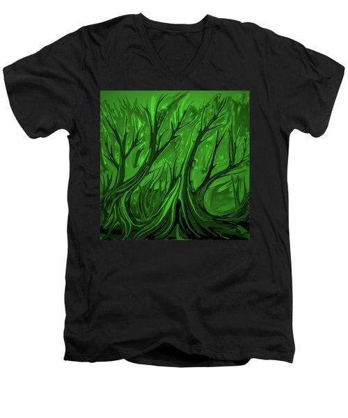 Play Green #h6 Men's V-Neck T-Shirt