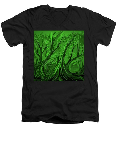 Play Green #h6 Men's V-Neck T-Shirt