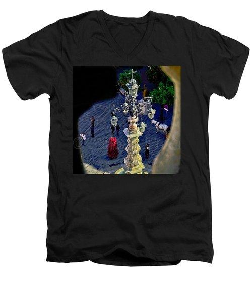 Plaza Del Trunfo - View From La Giralda Men's V-Neck T-Shirt