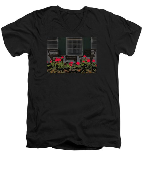 Men's V-Neck T-Shirt featuring the photograph Pleasant Evening by Rosalie Scanlon
