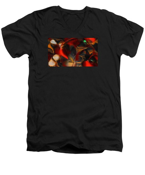 Men's V-Neck T-Shirt featuring the digital art Pleasure Seeker by Yul Olaivar