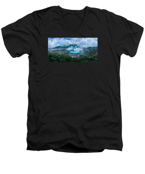 Poas Volcano, Costa Rica Men's V-Neck T-Shirt