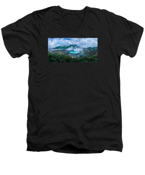 Poas Volcano, Costa Rica Men's V-Neck T-Shirt