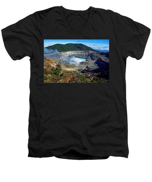 Poas Volcano Men's V-Neck T-Shirt