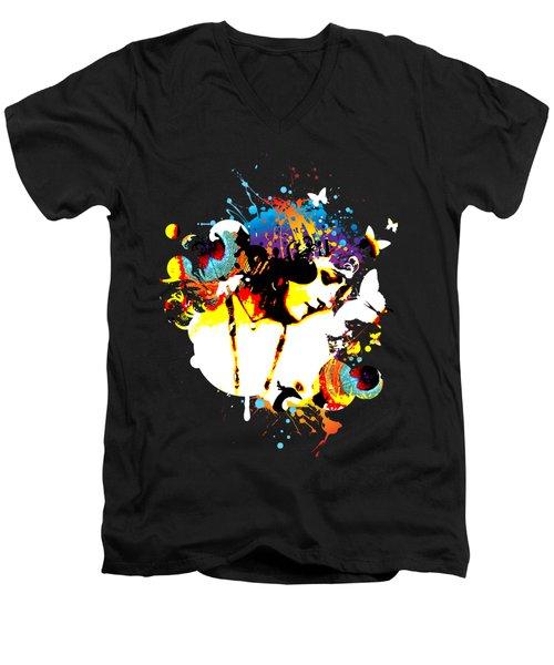 Poetic Peacock Men's V-Neck T-Shirt