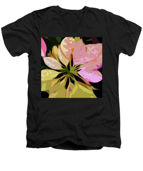 Poinsettia Tile Men's V-Neck T-Shirt