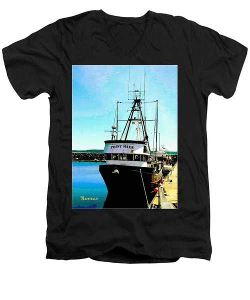 Point Made At Pt Townsend Wa Men's V-Neck T-Shirt