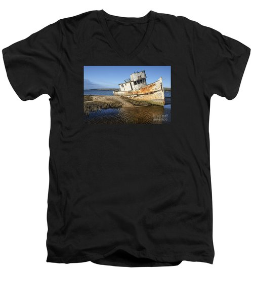 Point Reyes Shipwreck Men's V-Neck T-Shirt by Amy Fearn