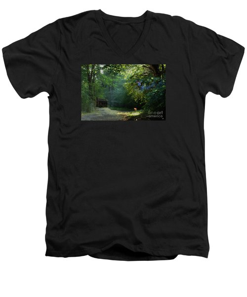 Pointing The Way Men's V-Neck T-Shirt