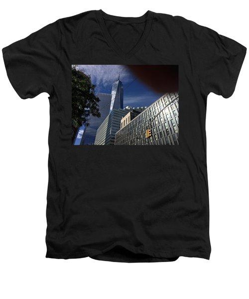 Pointing Towards The Sky Men's V-Neck T-Shirt