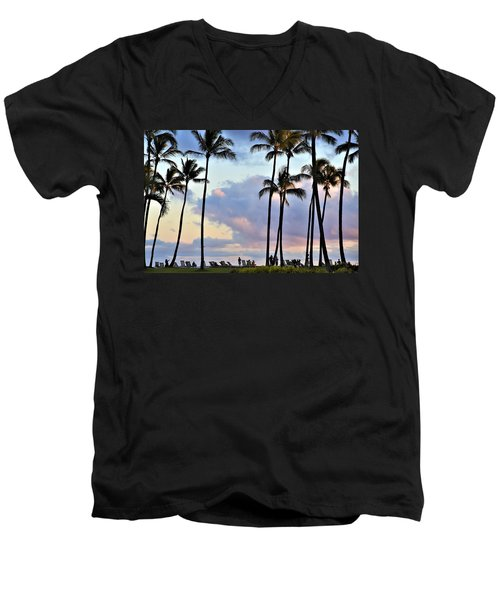 Poipu Beach Men's V-Neck T-Shirt