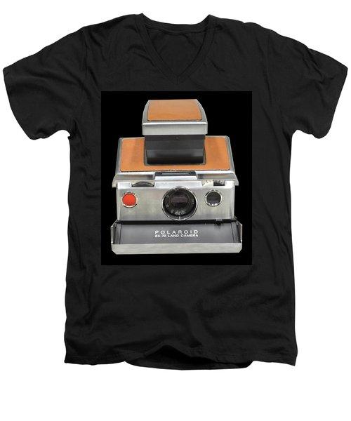 Polaroid Sx-70 Land Camera Men's V-Neck T-Shirt