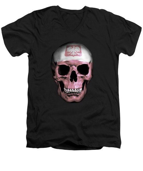 Polish Skull Men's V-Neck T-Shirt