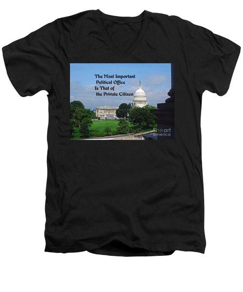 Political Statement Men's V-Neck T-Shirt