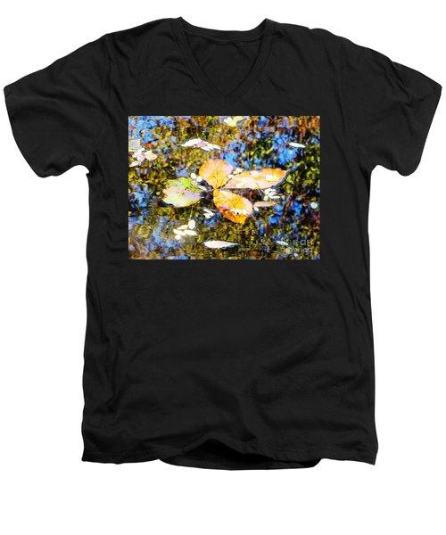 Pondering Men's V-Neck T-Shirt by Melissa Stoudt