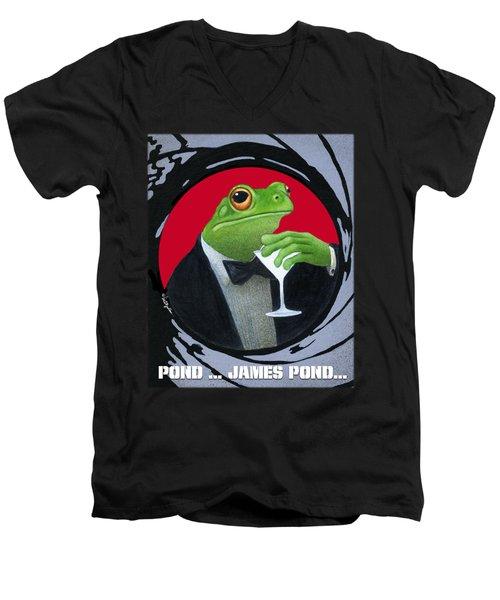 Pond...james Pond... Men's V-Neck T-Shirt