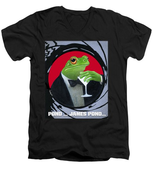 Pond...james Pond... Men's V-Neck T-Shirt