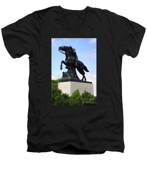 Pony Express Rider Men's V-Neck T-Shirt