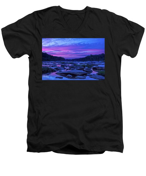 Pony Pasture Sunset Men's V-Neck T-Shirt