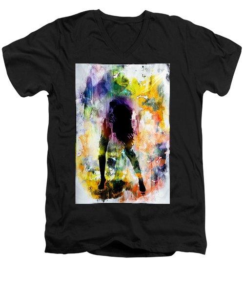 Pop Dance Men's V-Neck T-Shirt
