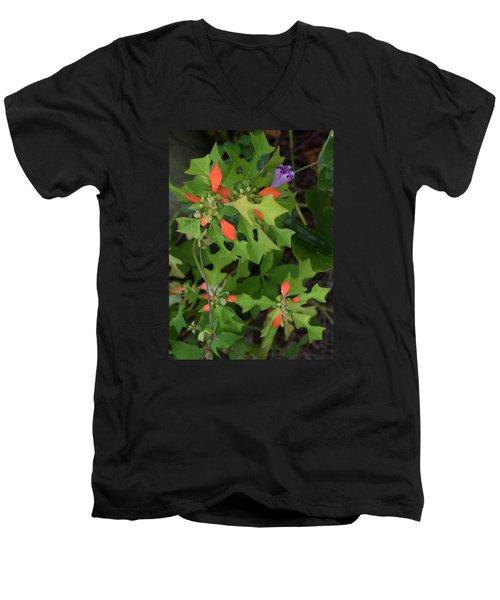 Pop Of Color Men's V-Neck T-Shirt by Deborah  Crew-Johnson