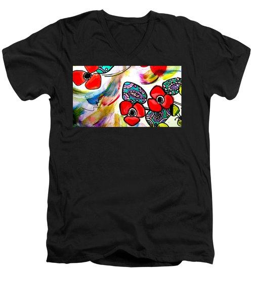 Poppy Fun Men's V-Neck T-Shirt