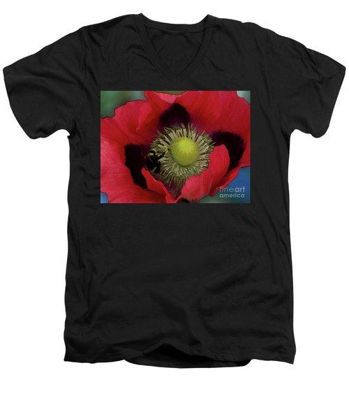Poppy Love Men's V-Neck T-Shirt