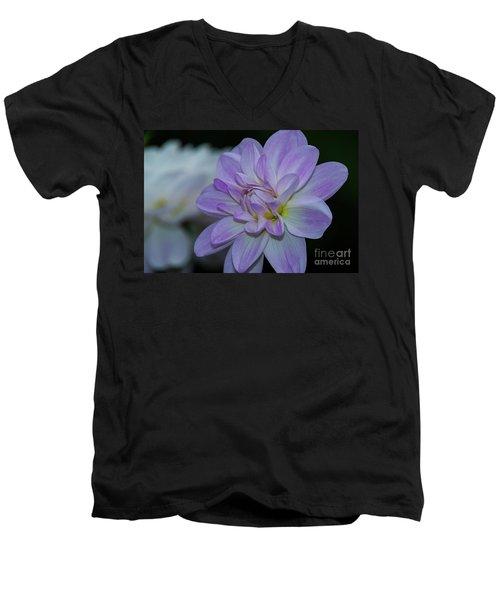Porcelain Dahlia Men's V-Neck T-Shirt