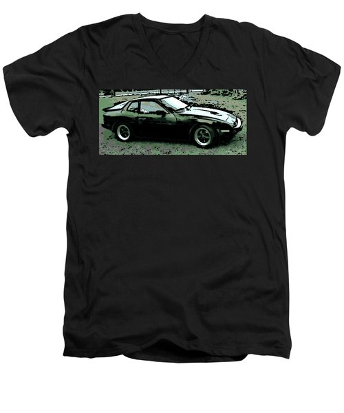 Porsche 944 On A Hot Afternoon Men's V-Neck T-Shirt