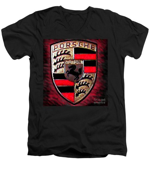 Porsche Emblem Men's V-Neck T-Shirt